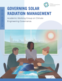 The cover of the Governing Solar Radiation Management report