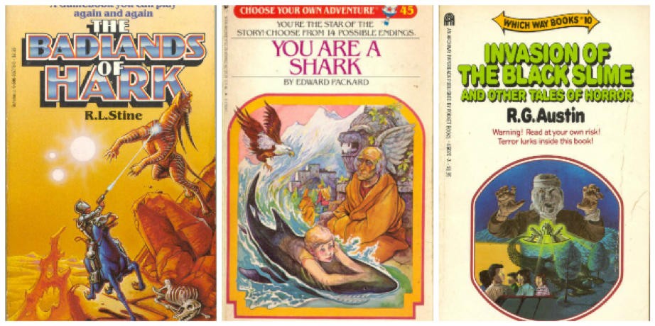 Covers of Choose Your Own Adventure Books