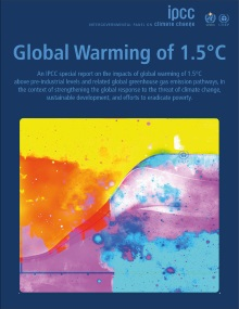 Cover of the IPCC Special Report on 1.5ºC